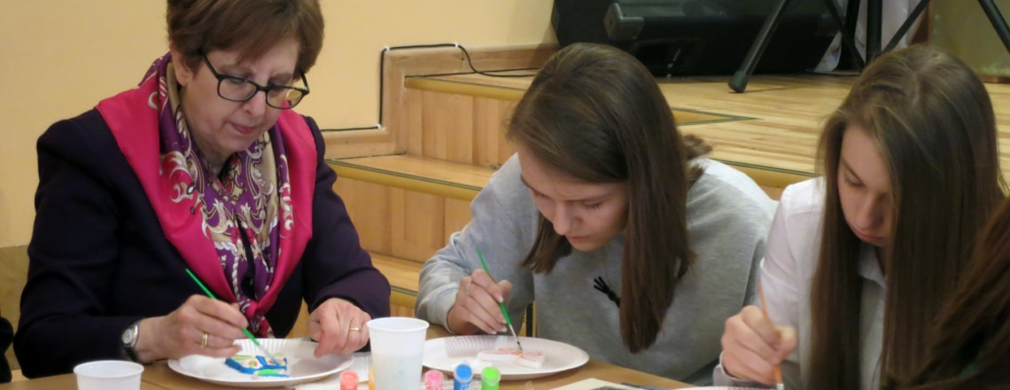 Students learn about Holocaust through Painting Butterflies