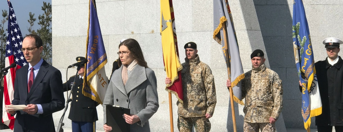 Liepāja piemin kritušos ASv kareivjus