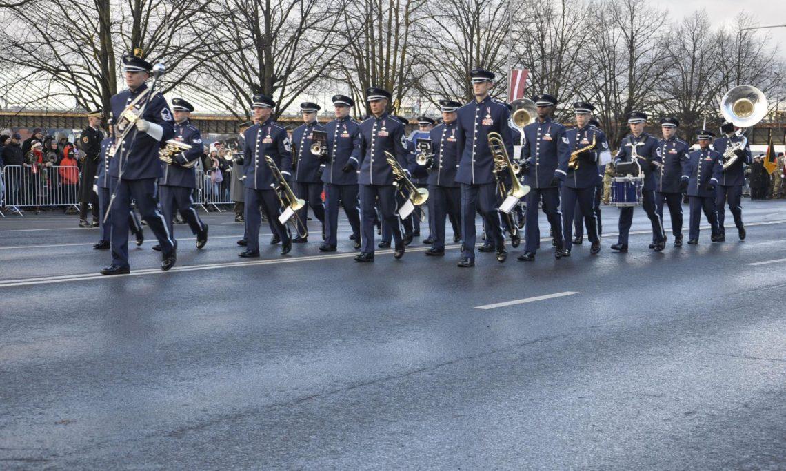 USAFE Band Marching