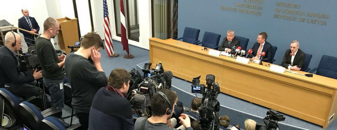 Valsts sekretāra vietnieks Džons Salivans izziņo Baltijas Samitu